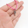 Chrome Hearts KZ Cross Bracelet Pink