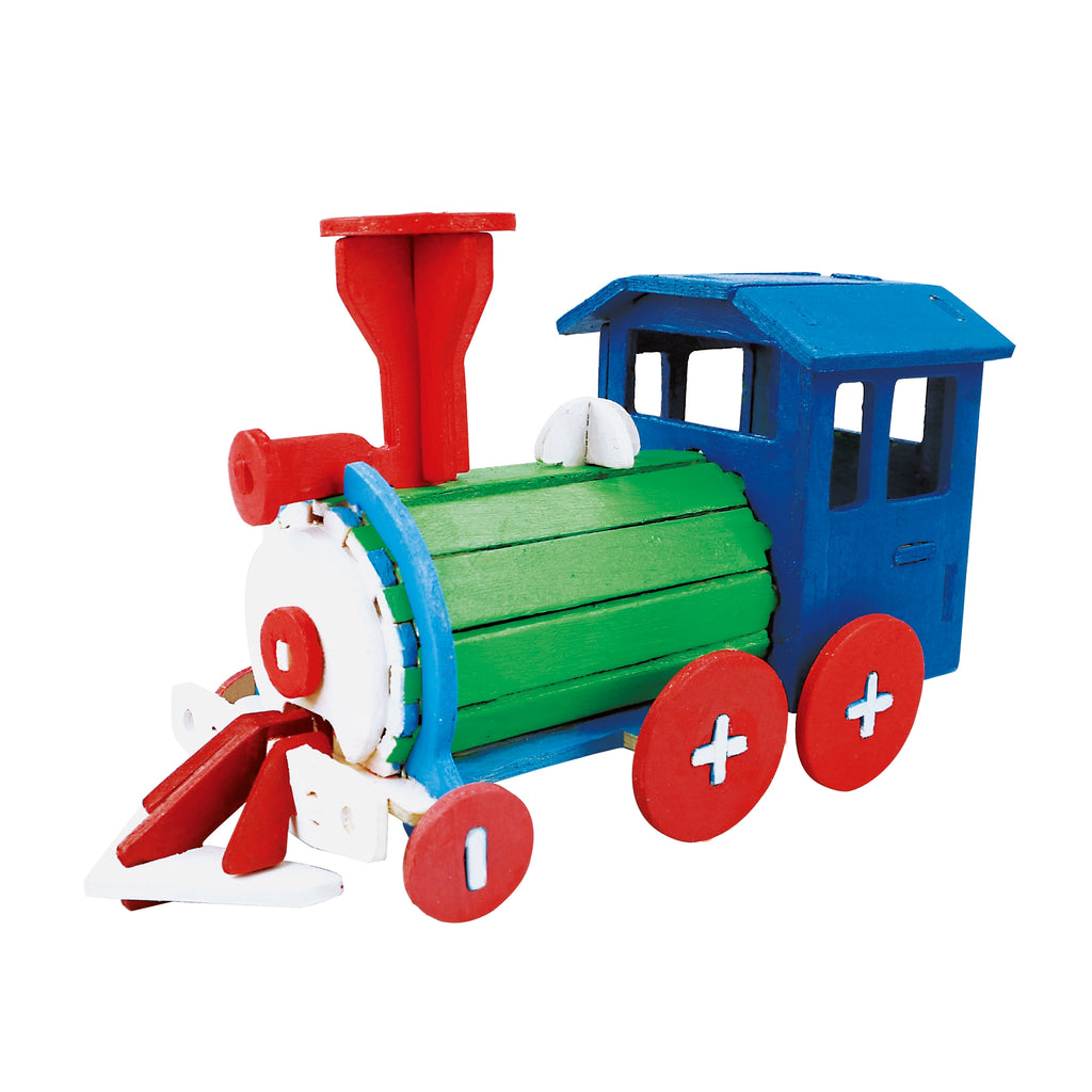Hands Craft 3D Puzzle with Paint Kit: Locomotive-HC251