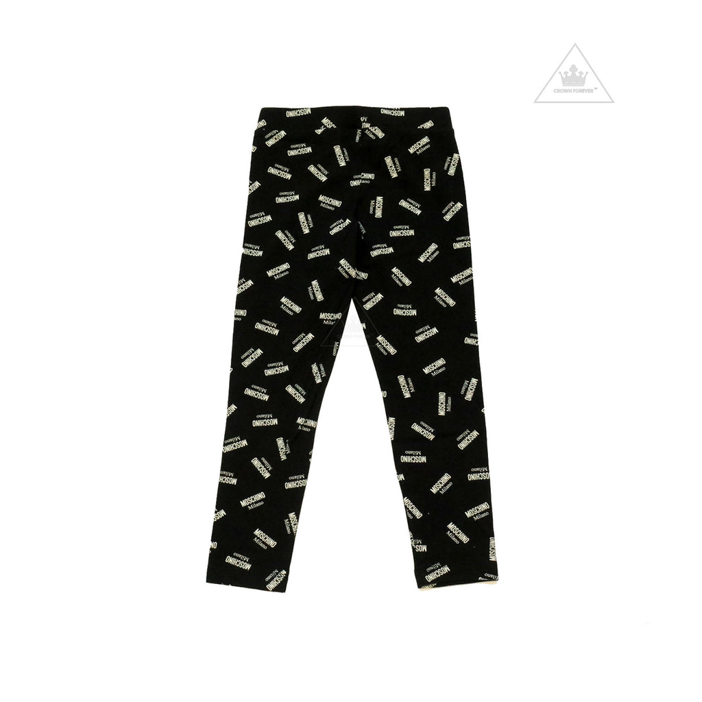 Moschino Kids Girls Leggings With Allover Logo Print