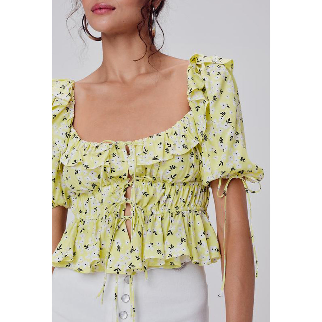 For Love and Lemons Chrysanthemum Crop Top