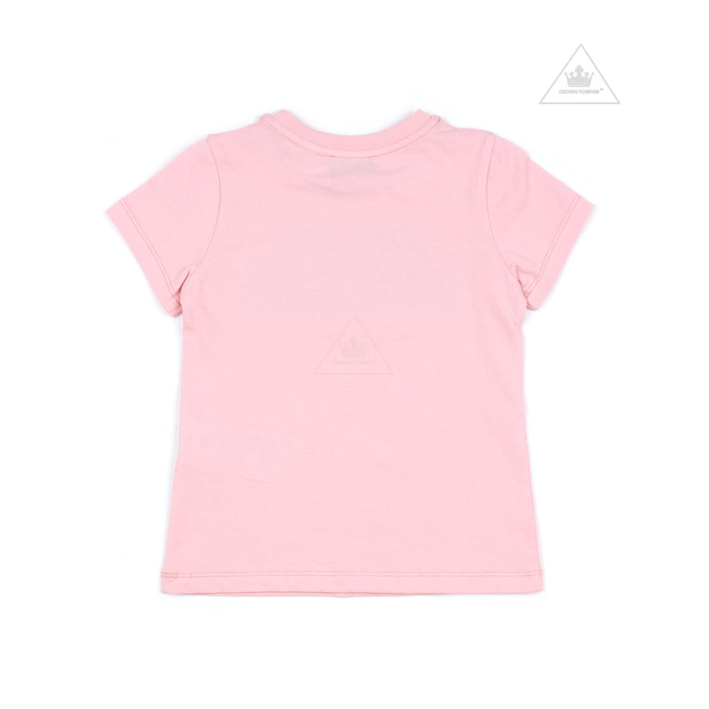 Moschino Kids Girls Short Sleeve T With Logo And Bear Graphics Pink