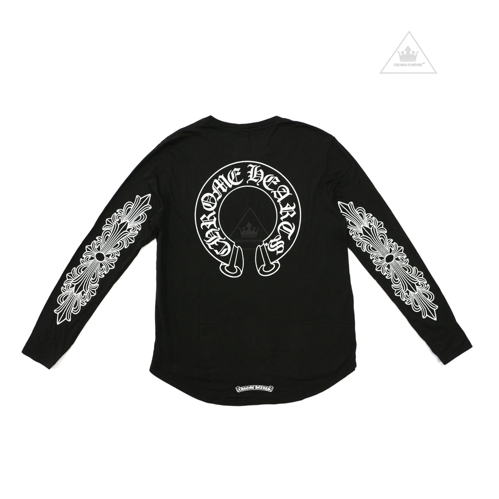 Chrome Hearts Horseshoe Floral Cross Long Sleeve