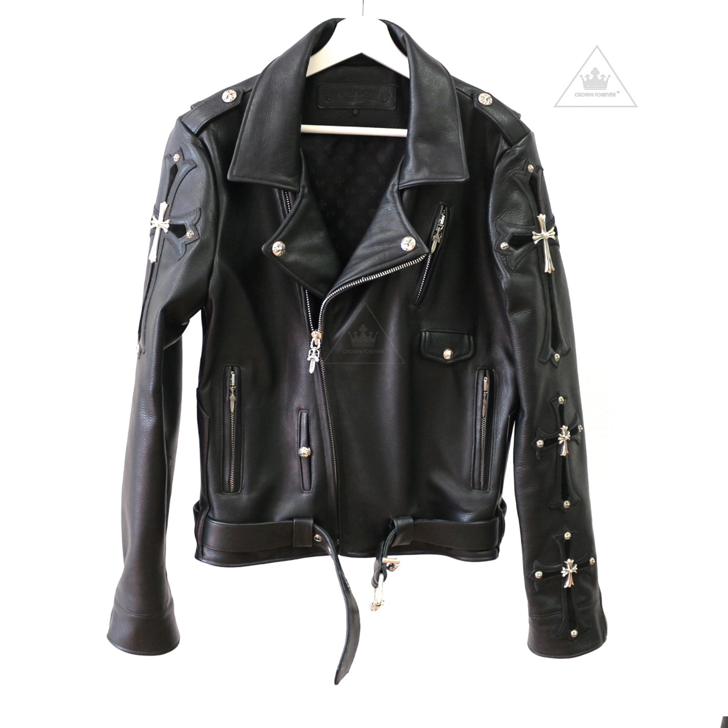 d1d8117b3ce Chrome Hearts Limited Cross Leather Biker Jacket – Crown Forever