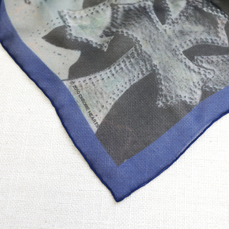 Chrome Hearts Plus Cross Five Pointed Star Silk Scarf