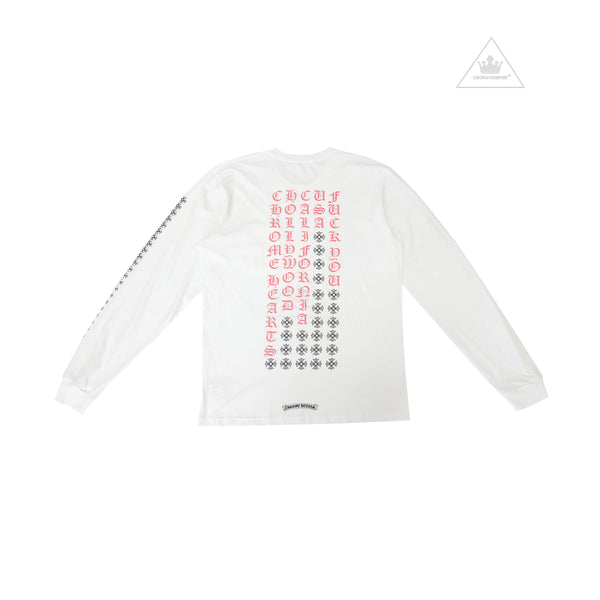 Chrome Hearts Pink Letter Long Sleeve Tee