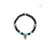 Chrome Hearts Bracelet Bead in 6MM V5 Black Tourmaline and Turquoise