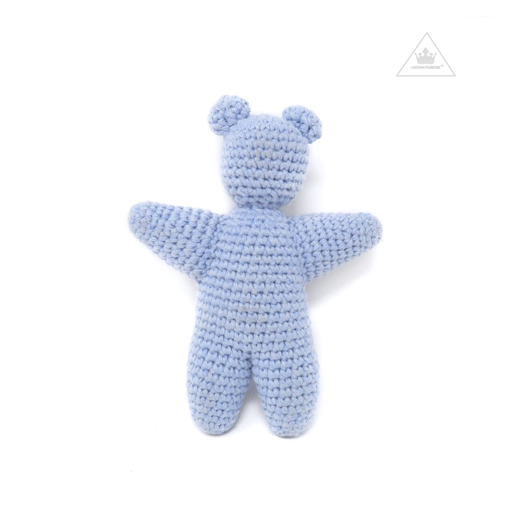 CH Crochet Silver Star Eyed Teddy Bear