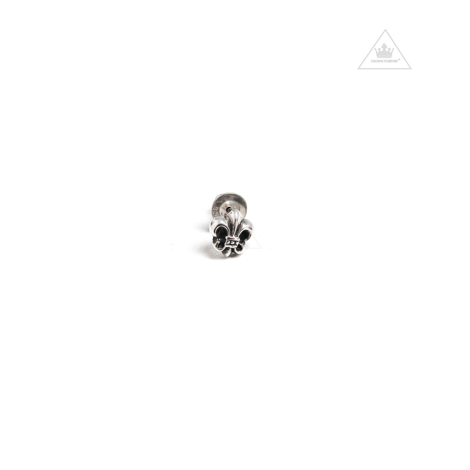 e63952a635f8 Chrome Hearts BS Fleur Cut Out Earring Stud – Crown Forever