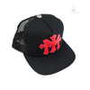 Chrome Hearts Leather Red Cross Patch Trucker Cap
