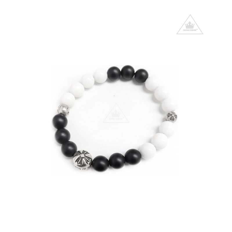 Chrome Hearts Bead Bracelet in Black and White