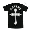Chrome Hearts Malibu Floral Cross Black Tee