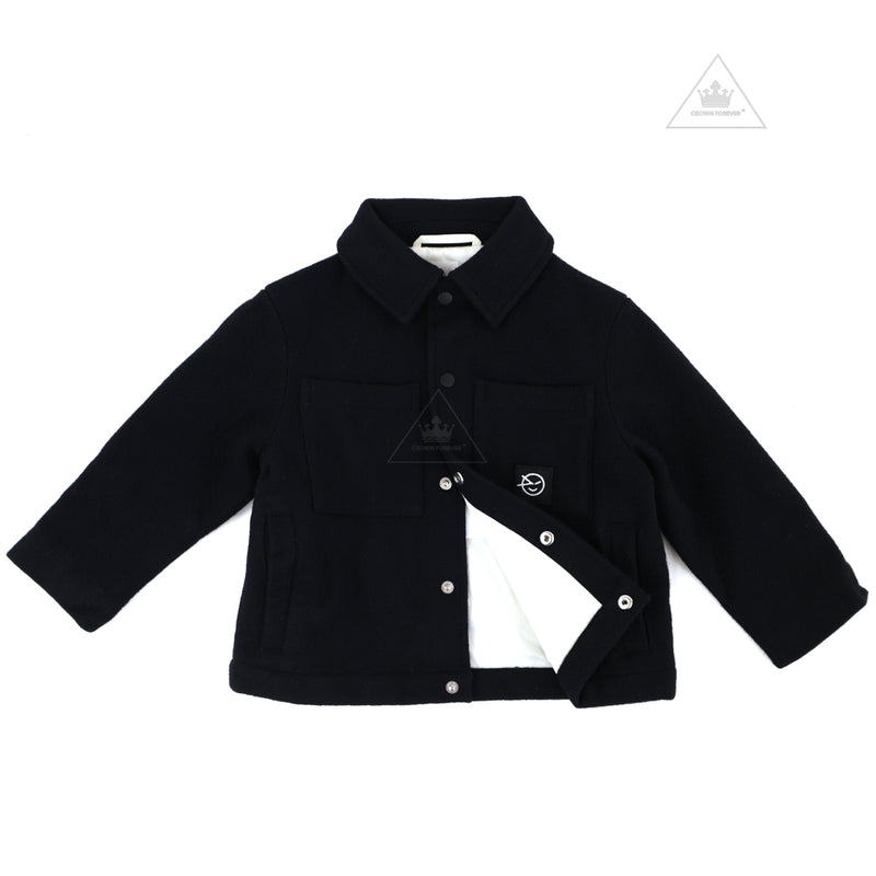 Wynken Poppers Coat - Navy Melton
