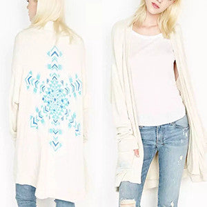 Lauren Moshi Snow Flake Long Sleeve Jacket