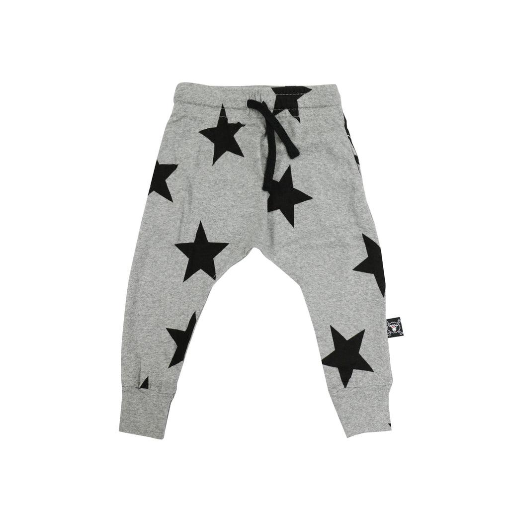 Nununu World Light Star Baggy Pants Heather Grey