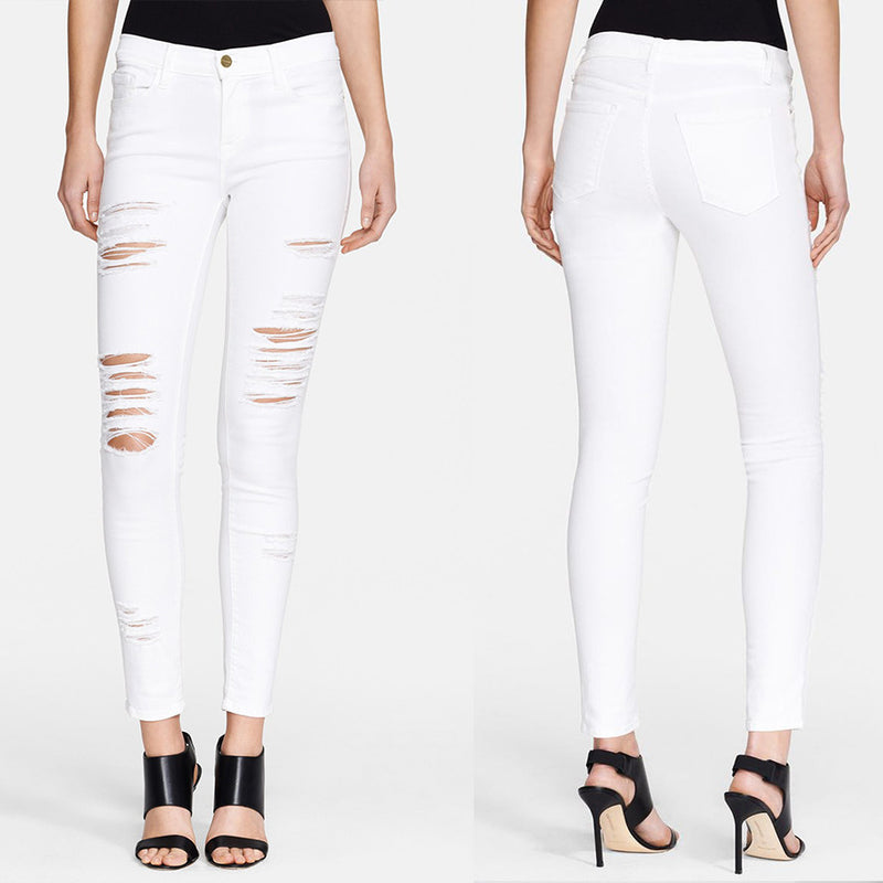 Genetic Denim Women's White Daphne Skinny Jeans