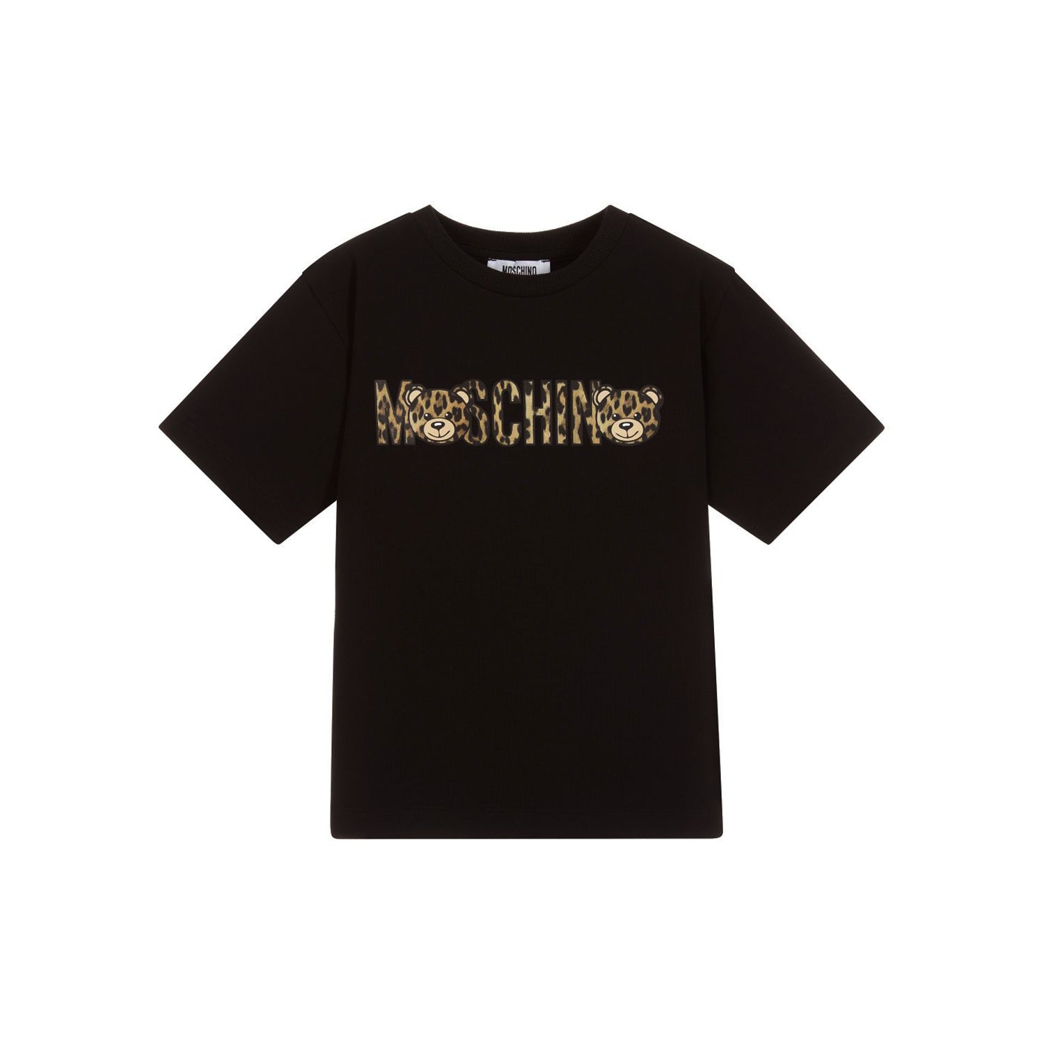 621458a84 Moschino Kids Maxi Leopard Logo T-Shirt Black – Crown Forever
