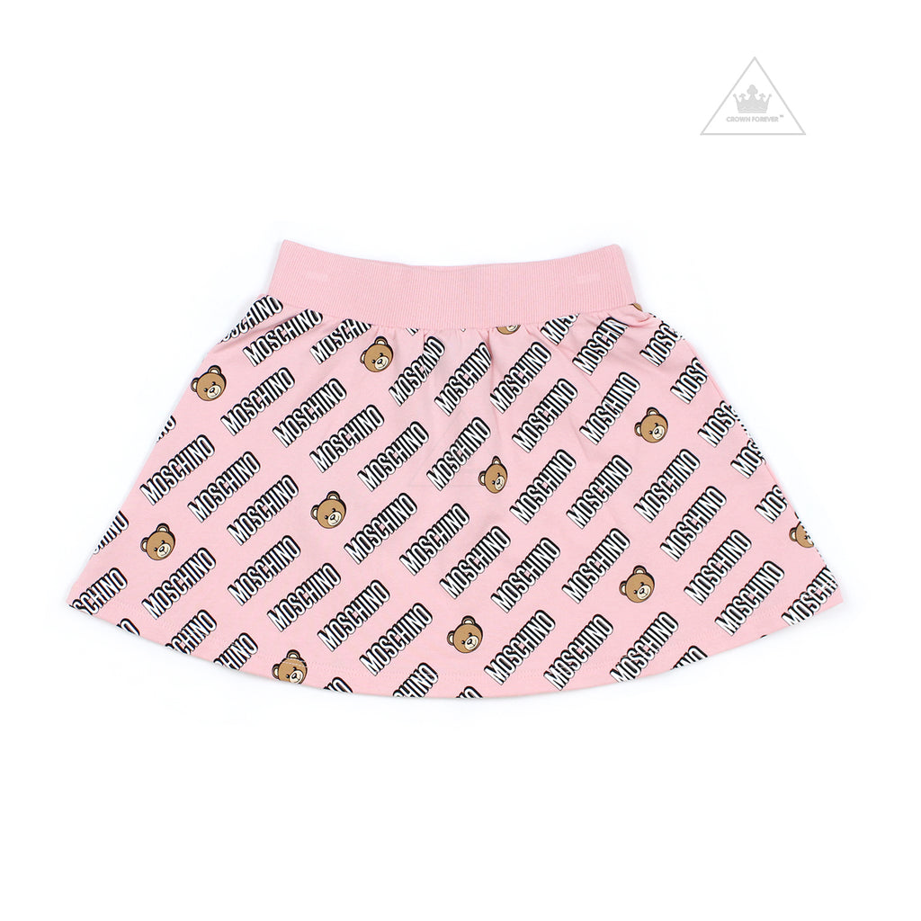 Moschino Kids Girls Skirt With Allover Toy Logo Print
