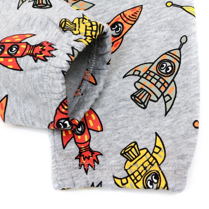 Stella McCartney Kids Rocket Ship-Print Sweatshirt w/ Matching Sweatpants, Size 12-36 Months