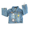 WEE MONSTER Denim Red Patchwork Jacket