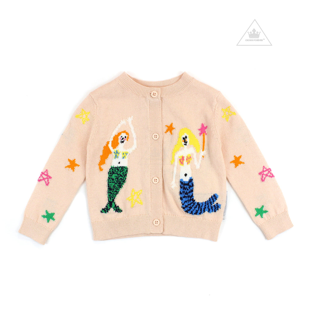 Stella McCartney Kids Baby Girl  Mermaids Cotton-Wool Cardigan
