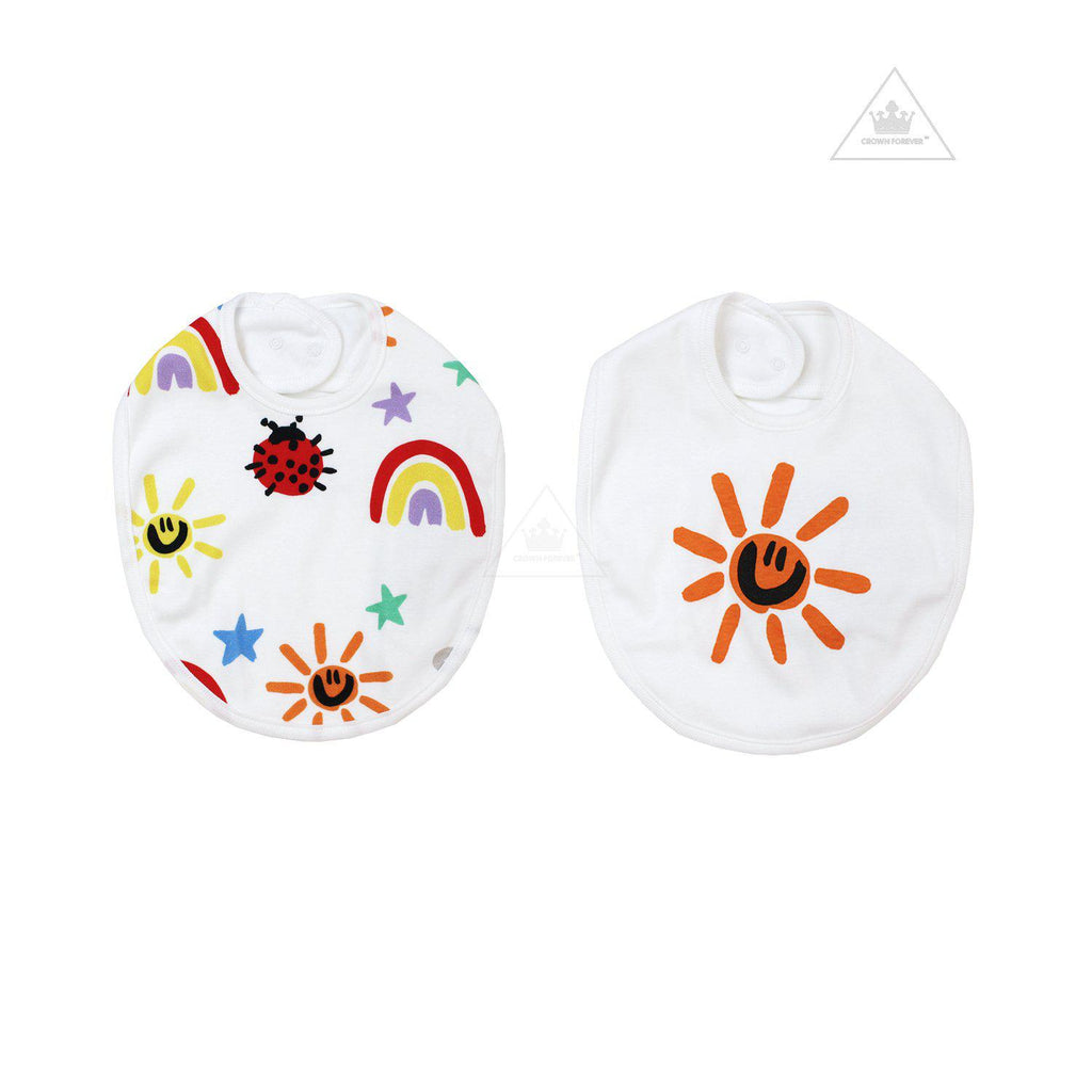Stella McCartney Kids Baby Crayon Weather 2 Pack Bib Set