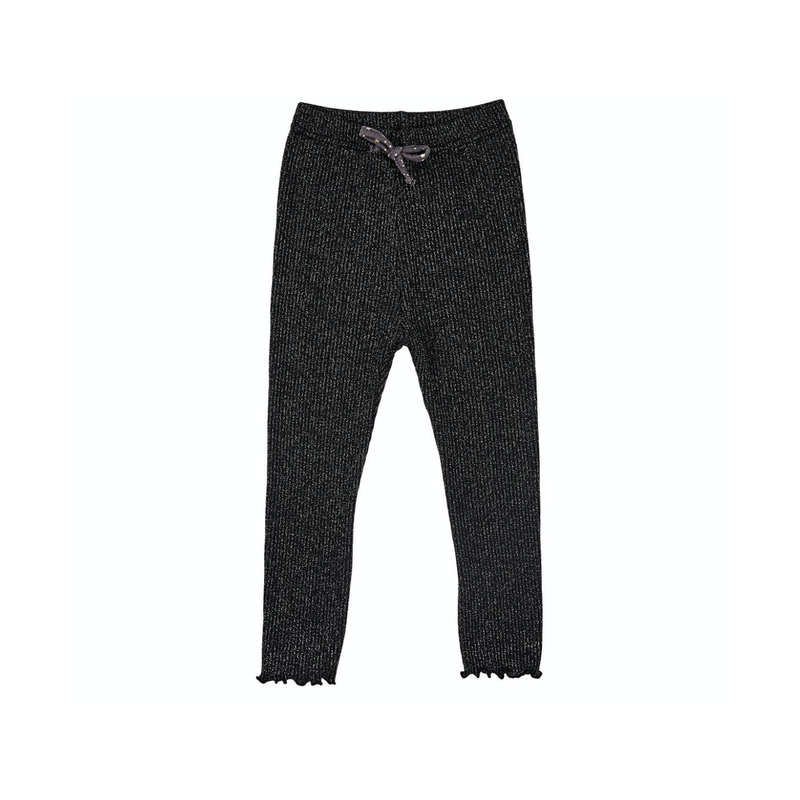 Petite Hailey Glitter Pants Black