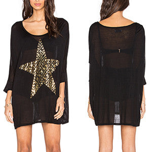 Lauren Moshi Golden Stars Long Sleeve