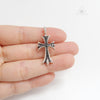Chrome Hearts Cross Charm in Black Gemstone