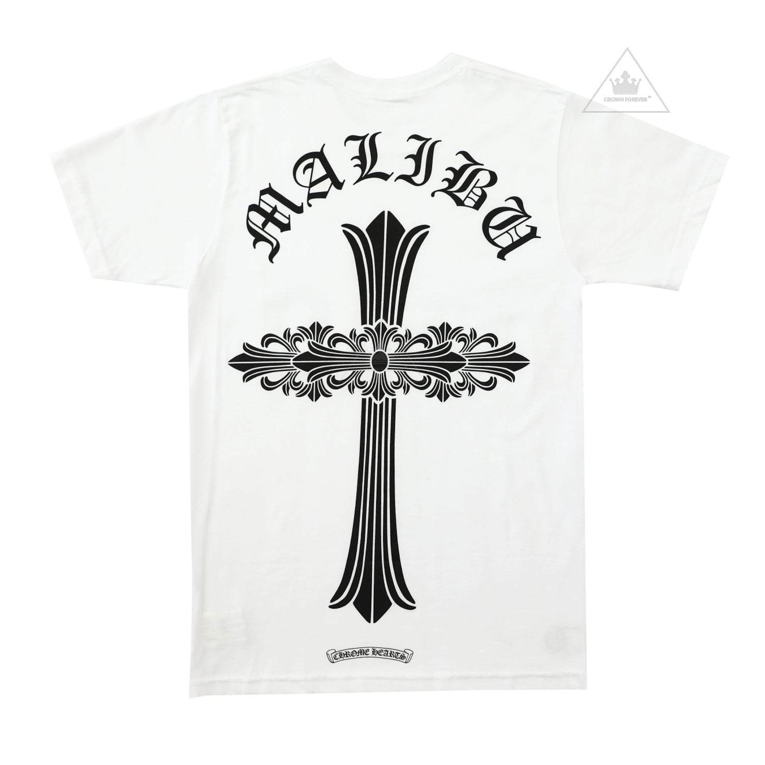Ch Malibu Floral Cross Tee Crown Forever