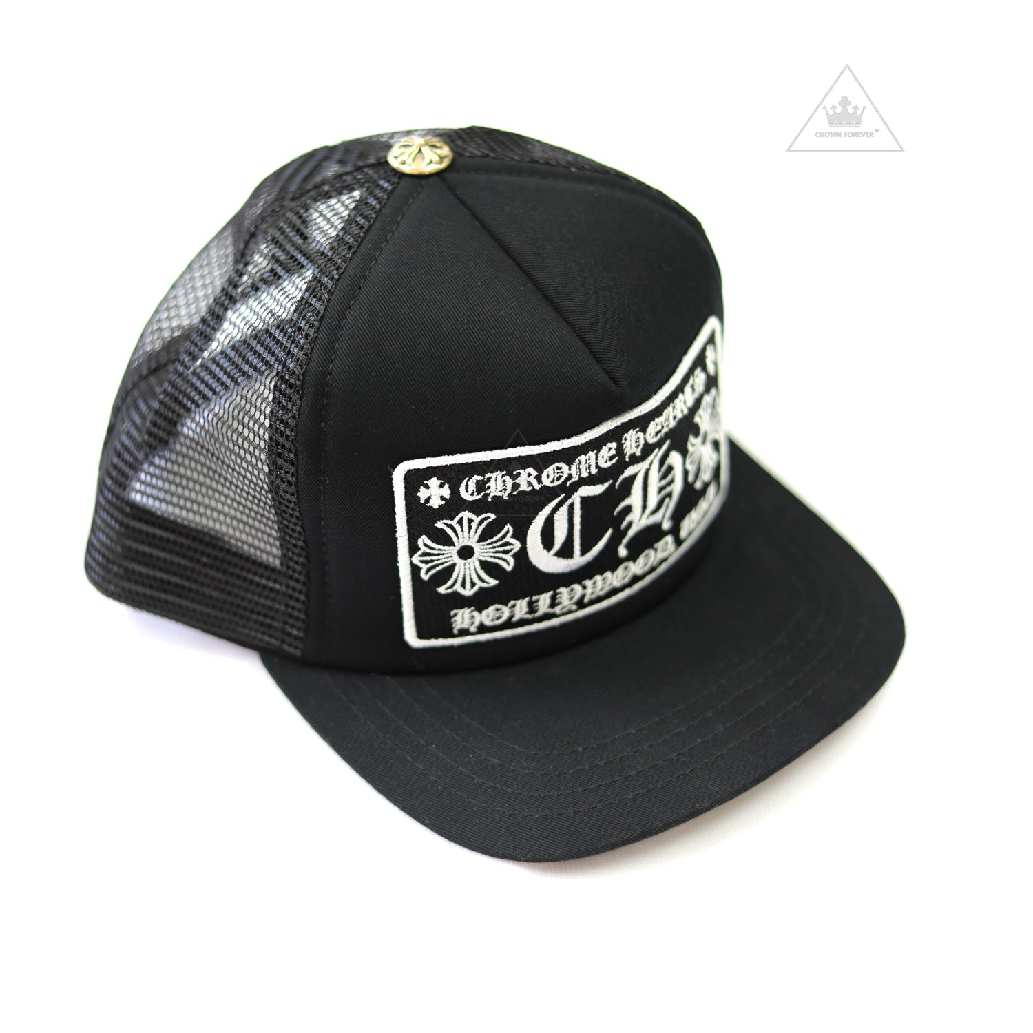 ab652a423eff7 Chrome Hearts Hollywood Patch Trucker Cap – Crown Forever