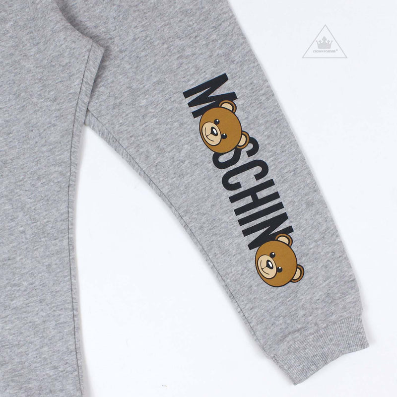 Moschino Baby Unisex Logo Bears Tracksuit Set in Grey