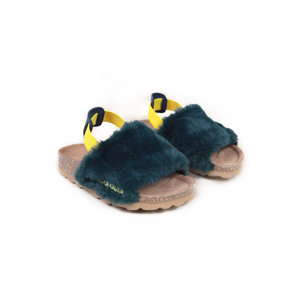 Bobo Choses B.C Embroidered Sheepskin Sandals