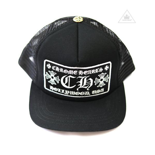 CH Hollywood Patch Trucker Cap Black