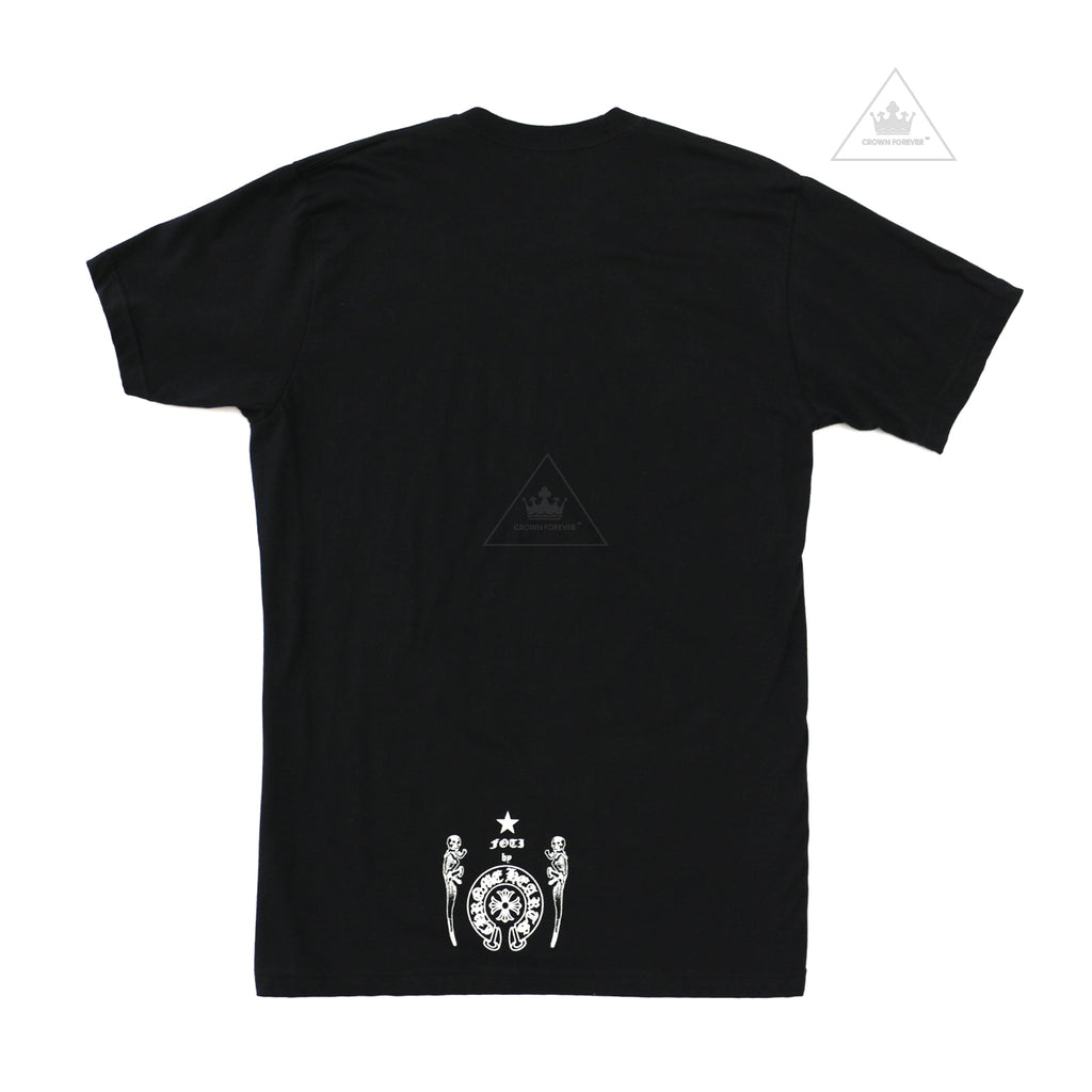Chrome Hearts  Foti Grey Skull Short Sleeve T Shirt Black