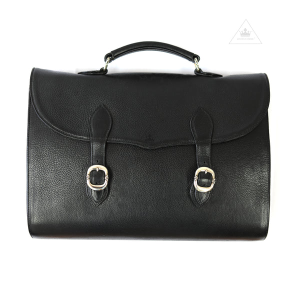 Chrome Hearts Leather Briefcase