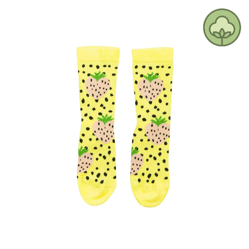 Bangbang Copenhagen Yum Yum Socks Yellow and Black Dots