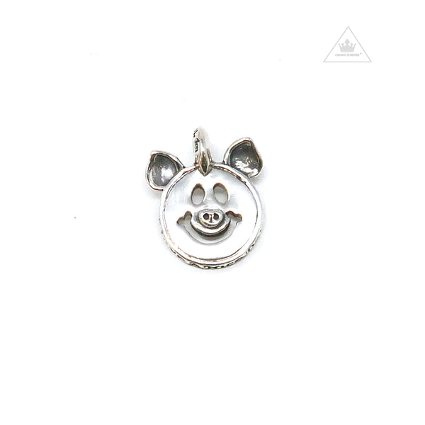 Bill Wall Leather Happy Face with Pig Ears C382
