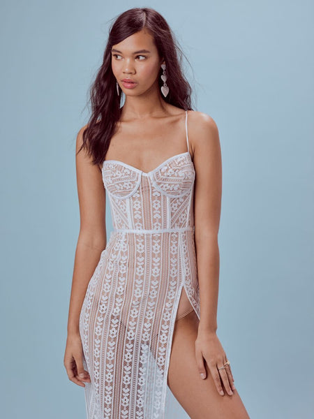 For Love and Lemons Dakota Lace Midi Dress