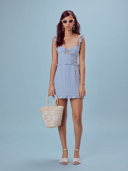 For Love and Lemons Sweetheart Mini Dress