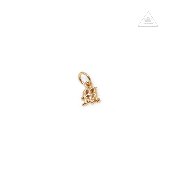 Chrome Hearts 22K Mini Alphabet Letter M Charm