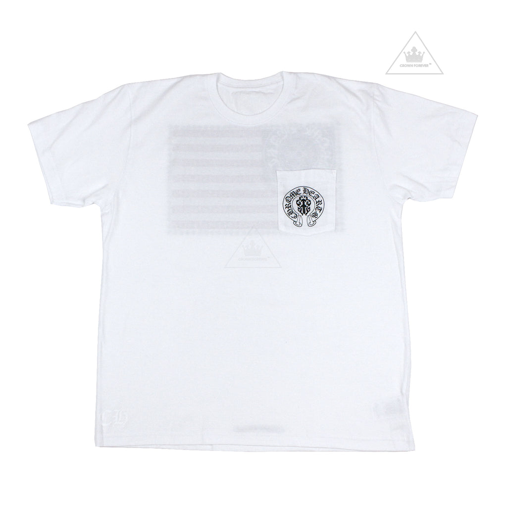 Chrome Hearts American Flag T Shirt in White