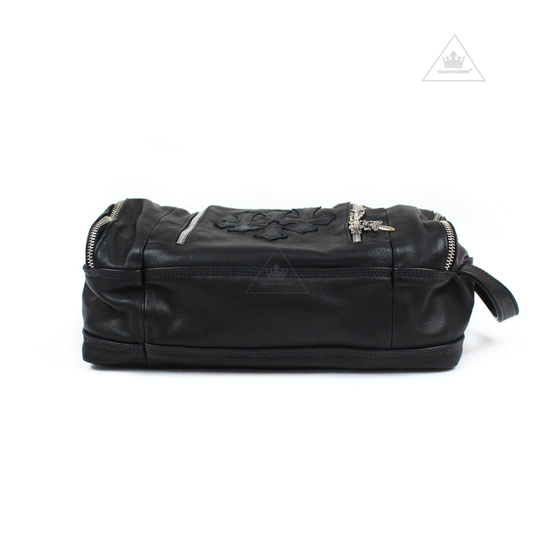 Chrome Hearts Dopp Kit Toiletry Duffle Bag in Leather