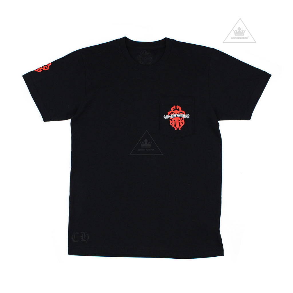 Chrome Hearts Red Dagger Tee in Black