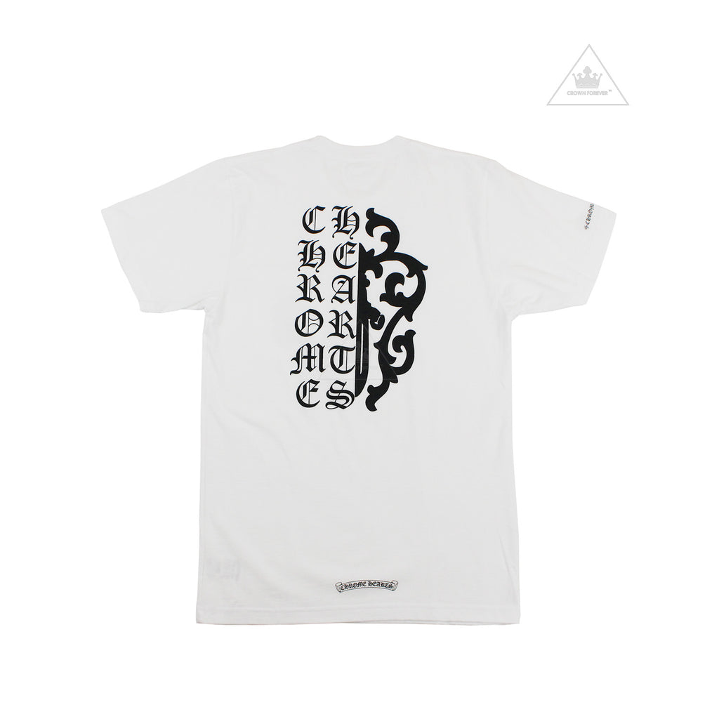 Chrome Hearts Script Dagger Tee in White