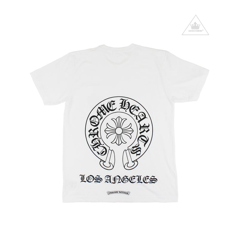 Chrome Hearts Horseshoe Los Angeles Crew T Shirt White