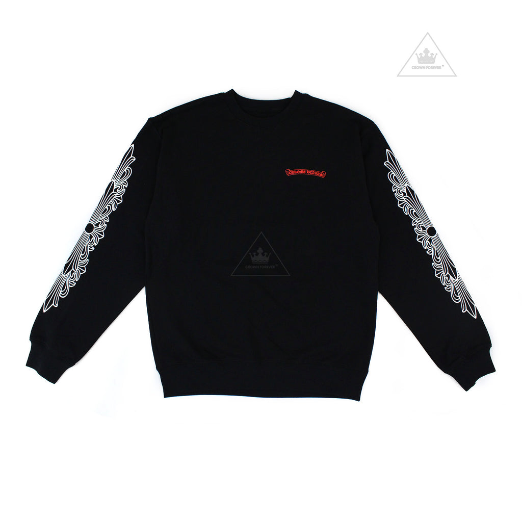 CH Matty Boy Chomper Floral Sleeve Sweatshirt Black (Glow In The Dark)