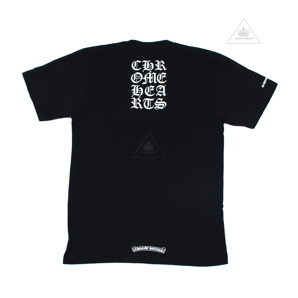 The Chrome Hearts Square Script T Shirt in Black