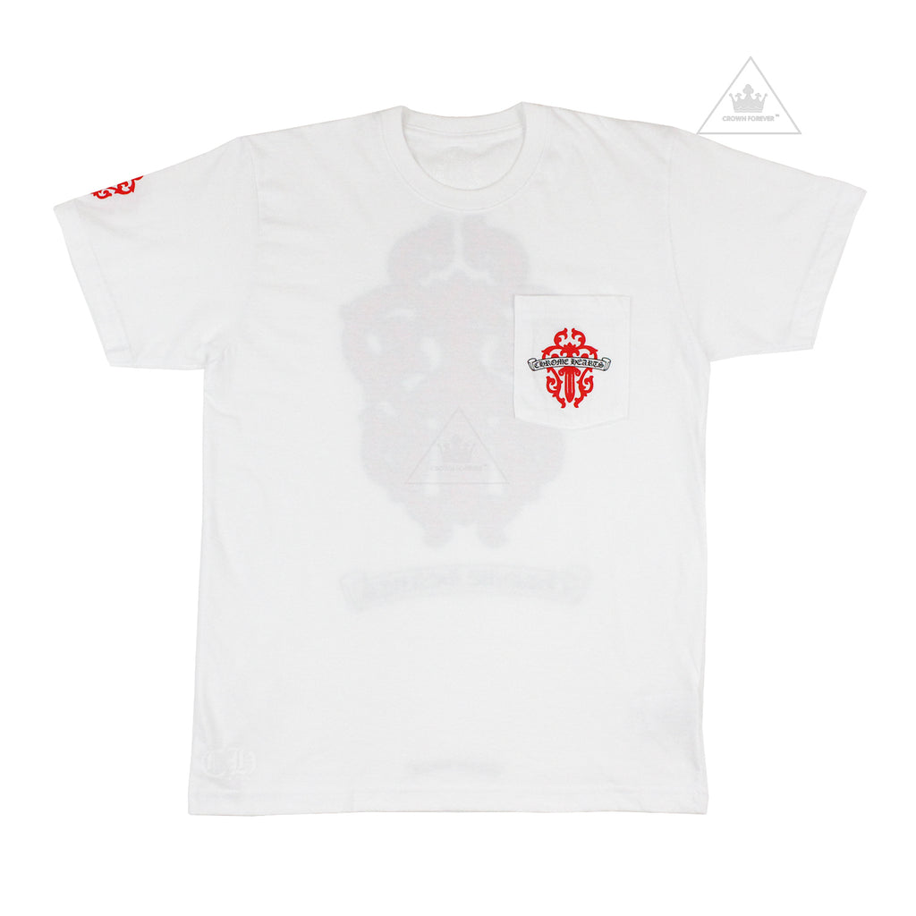 Chrome Hearts Red Dagger Tee in White