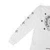 Chrome Hearts Horseshoe Star Crew Neck Long Sleeve Tee in White