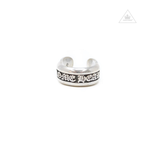 Chrome Hearts Small Scroll Label Ring